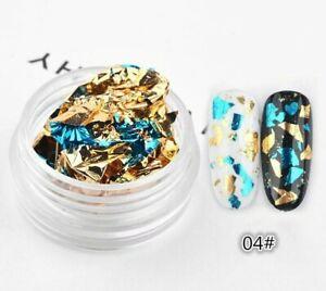 1 Box Colorful Glitter Foils UV 3D Gel Polish Nail Art Sticker Decoration Tools