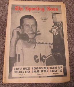 August 10, 1968 The Sporting News Chicago Cubs Glenn Beckert MLB Baseball