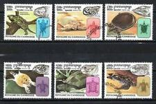 Cambodge 1998 Tortues (117) Yvert n° 1556 à 1561 oblitéré used