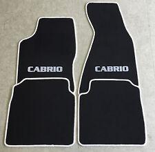 Autoteppiche Fußmatten für Audi 80 B4 Cabrio 1992-00  weiss 4tlg nicht original