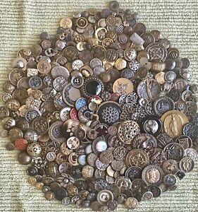 Huge Mish Mash Lot #2 of 600+ Old Buttons, Antiques, Vintage, More