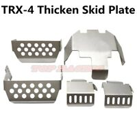 5Pcs Stainless Steel Protect Skid Plate For 1/10 Rc CAR Traxxas TRX-4 T4