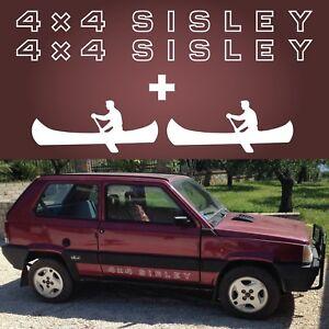 Panda 4x4 Sisley coppia adesivo sportelli 2 canoa sotto porta MISURA ORIGINALE