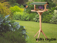 Heritage Wooden Bird Table Free Standing Garden House Feeding Station Wild Bird