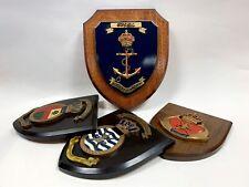 More details for 4 x vintage royal naval wooden plaques eng leong sign crafts militaria singapore