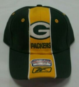 Green Bay Packers Adjustable Strap Reebok Hat - Youth One Size - New
