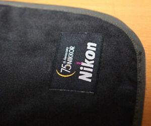 Nikon Nikkor 75th Protect Cloth Bag Pad DSLR Body Lens Df D810 D7200 D4S Kit NEW