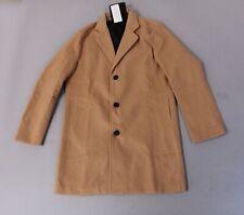 Beninos Men's Trench Coat Winter Long Double Breasted Overcoat DD5 Camel Size XL