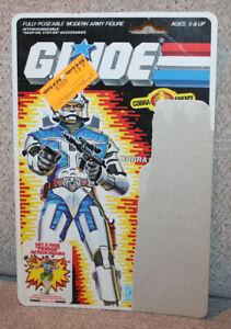 1980's Hasbro GI Joe Cobra Commander Backer Card & File card