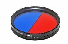 Bi-colour 55 mm Rojo/azul Filtro