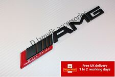 BLACK SERIES MATT RED  AMG ABS BOOT BADGE EMBLEM FOR MERCEDES BENZ C CL CLK S S