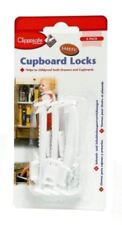 Clippasafe Cupboard Lock Safety Baby Child Proofing Easy Fitted, 6 per Pack