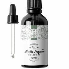 Huile de Nigelle BIO Pressée à froid Pure Cumin noir - Soin 100% Naturel pour...
