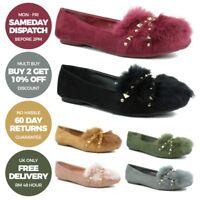 Ladies Womens Flat Shoes Ballet Ballerina Dolly Bridal Pumps Size 3 4 5 6 7 8