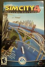 Sim City 4 PC DELUXE Edition Game Manual & Hint Card