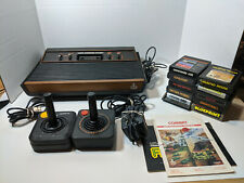 Atari 2600 CX-2600 A Console Bundle w/ Cables, 2 Joysticks, 10 Games Tested