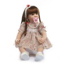 24Inch 61CM Lifelike Reborn Baby Doll Soft Doll Silicone Bebe Girl Doll Toy