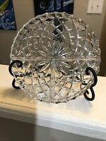 Waterford Crystal Relish Tray LATTICE Candy Dish Christmas Thanksgiving Plate 7""