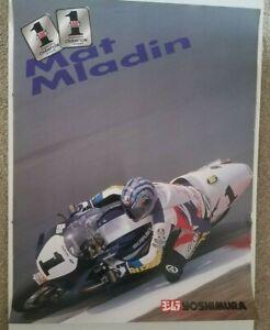 Vintage Poster 2000 Matt Mladin Yoshimura Suzuki GSXR 750 Superbike