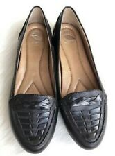 New Nurture Kona Black Slip On Loafers Leather Comfort Shoes Suze 6M