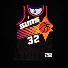 100% Authentic Jason Kidd Champion Suns NBA Jersey 40 M S - barkley nash