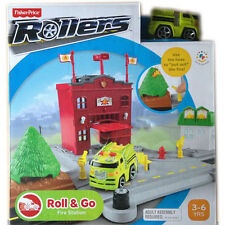 Fisher Price Rollers Roll & Go Fire Station with Fire Engine NEW