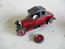 Vintage Model Kit Built Old Maroon Black Car LOOK
