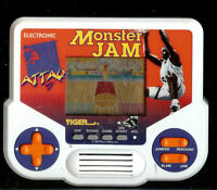 1990s MONSTER JAM TIGER ELECTRONIC HANDHELD TRAVEL POCKET ARCADE LCD TOY GAME