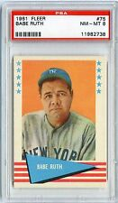 1961 FLEER BABE RUTH #75 NY YANKEES PSA 8 NM-MT NQ