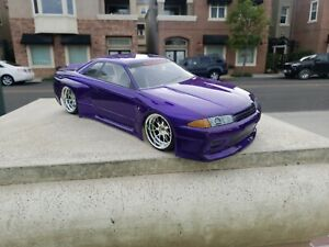 200mm Custom Paint R32 4Tec-2 HPI TC7 Lipo Drift MST Tamiya 1/10 Body Only