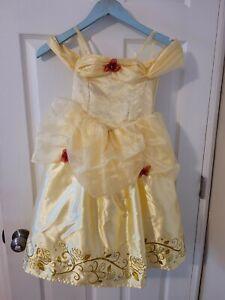 Disney Princess Belle Beauty & the Beast Yellow Fantasy Play Costume Dress 4-6X