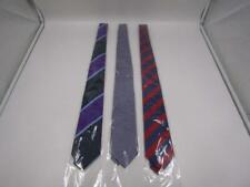 David Donahue Men's OS Neck Ties Purple/Red/Multi LOT OF 3 *Sealed*