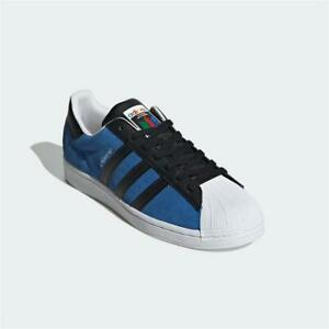 Adidas Superstar Trainers Blue Black White Authentic Brand New
