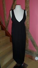 UK 10  Sleeveless  Black Maxi Dress in 100% Cotton by Top Shop Boutique