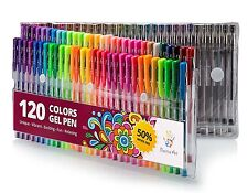 Positive Art 120 Colors (No Duplicates) Gel Pens Set  #1 Pens For Adult Coloring