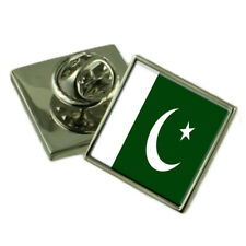 Pakistan Flag Lapel Pin Badge Solid Silver 925