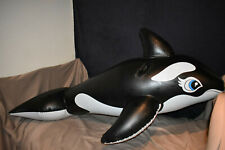 """RARE! inflatable intex """"the wet set"""" orca without safety logos leaks on the tail"""