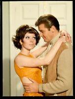 ROGER MOORE PRETTY GIRL THE SAINT RARE ORIGINAL 1967 NBC TV PHOTO TRANSPARENCY