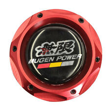 Red Car Engine Oil Filler Fuel Cap Tank Cover Aluminum With Mugen Emblem