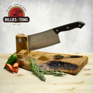 Billies & Tong Olive Wood Cutting Chopping Board & 3 Biltong Spices Gift Set
