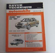 Revue technique automobile RTA 489 Audi 80 & 90 1.8 S & E 2.0 E 2.2 E
