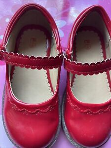 Red Patent Leather Mary Jane Mothercare Girls Shoes Size 7 Infants
