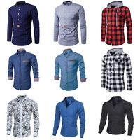 Fashion Mens Luxury Long Sleeve Casual Slim Fit Shirt Stylish Dress Shirts New