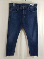Rag and Bone Slim Leg Mens Denim Blue Jeans Size 34 x 29 Straight Leg Dark Wash