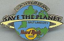 "Hard Rock Cafe SALT LAKE CITY 2000 EARTH DAY Globe ""STP"" Save Planet PIN #8109"