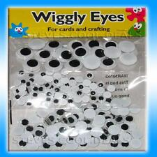 WIGGLY GOOGLY WIGGLE GOOGLE EYES FUN 250 MIXED SIZES CARDS & CRAFT JUST GLUE ON