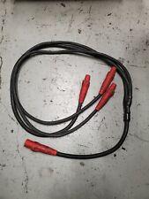 4/0 - 2/0 Soft Siamese 8' Molded Cam Lok Y-Split Threefer 1 Male to 3 Female Red