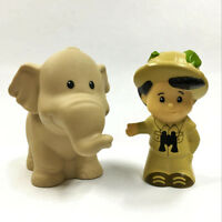 2PCS Fisher-Price Little People Tree House Boy & Elephant Animal Figure Toy Gift
