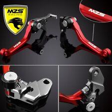 Red MZS Pivot Brake Clutch Lever For Honda CR80R/85R/125R/250R CRF150R/150F 1Set