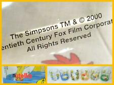 Simpsons Set 6 Nutella Tumblers Glasses Homer Bart Krusty Lisa Maggie VGC